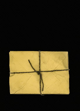 Magdalena Russocka bundle of letters tied with string