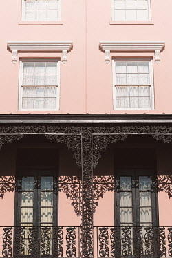 Alicia Bock Pink house with wrought iron railings