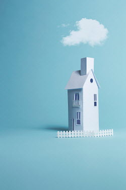 Catherine Macbride Paper craft house under cloud
