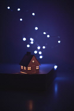 Catherine Macbride Paper craft house under lights