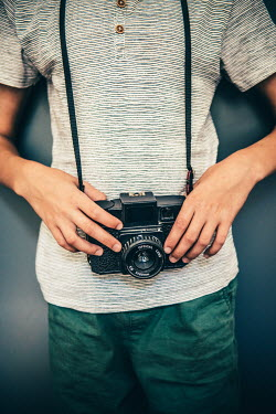 Katya Evdokimova Boy with vintage camera