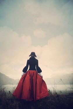 Magdalena Russocka historical woman standing by lake
