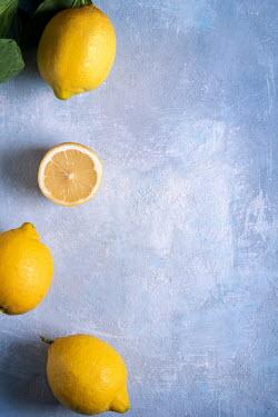 Galya Ivanova Lemons on blue background