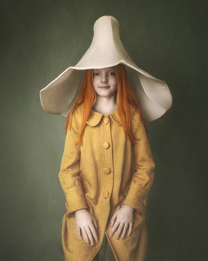 Anna Buczek Girl in yellow dress and lampshade