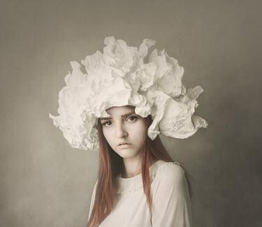 Anna Buczek Teenage girl with white paper headdress