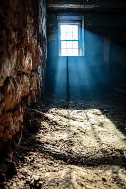 Stephen Carroll Sunlight through derelict  window