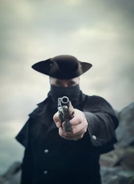Mark Owen Pirate holding pistol
