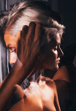Marta Syrko Double exposure of topless woman