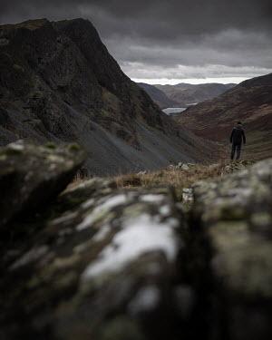 Paul Sheen Man standing by mountain