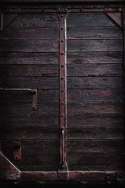 Lisa Bonowicz Door of train carriage at Auschwitz Concentration Camp, Poland