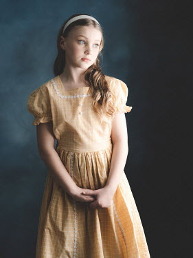 Elisabeth Ansley Portrait of girl in vintage yellow dress
