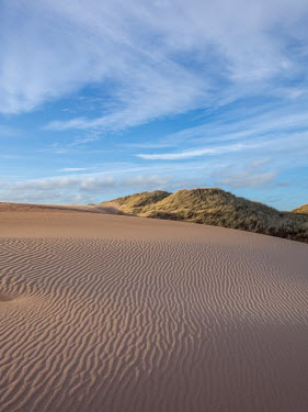 David Baker Dunes under clouds
