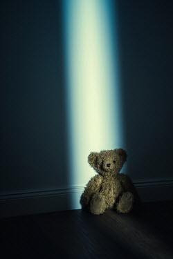 Magdalena Russocka Teddy bear in empty room at night