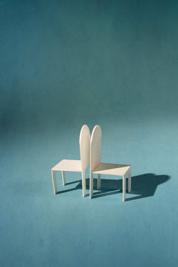 Peter Chadwick TWO MINIATURE CHAIRS BACK TO BACK Miscellaneous Objects