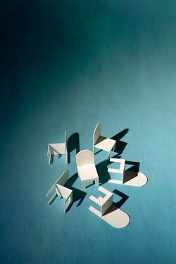 Peter Chadwick SIX WHITE MINIATURE CHAIRS Miscellaneous Objects