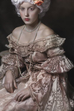 Beata Banach HISTORICAL WOMAN IN SILK GOWN AND PEARLS Women