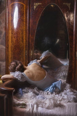 Beata Banach DREAMING WOMAN REFLECTED IN MIRROR Women