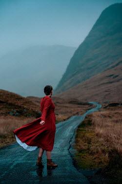 Rekha Garton WOMAN ON WINDY ROAD BY MOORLAND HILL Women