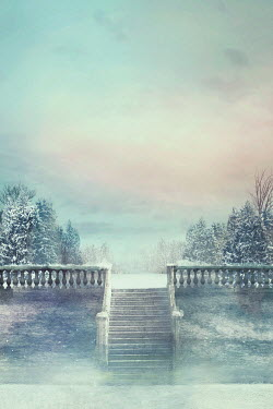Drunaa Steps in garden in winter
