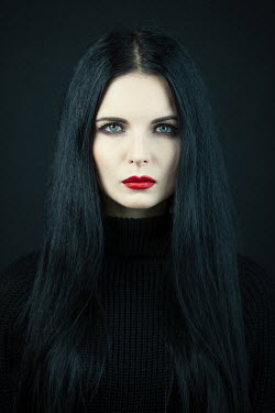 Magdalena Russocka close up of brunette woman staring