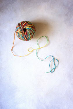 Galya Ivanova Colorful string on white background