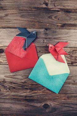 Kelly Sillaste Origami birds in envelopes