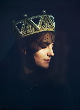 Mark Owen Woman in medieval crown and veil