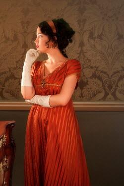 ILINA SIMEONOVA THOUGHTFUL HISTORICAL WOMAN IN RED DRESS Women
