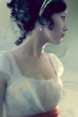 ILINA SIMEONOVA CLOSE UP OF REGENCY WOMAN IN PROFILE Women