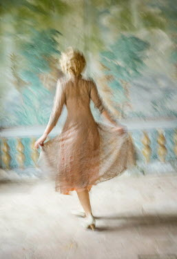 Nikaa BLONDE WOMAN IN LACE DRESS BY MURAL INDOORS Women