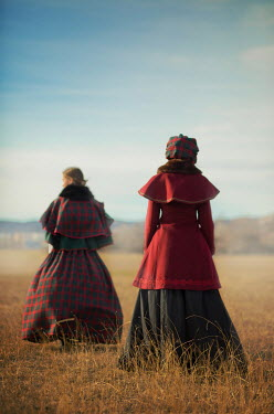 Ildiko Neer Two historical women standing at countryside