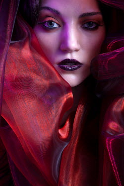 Miguel Sobreira Woman with Red Silk Veil Women
