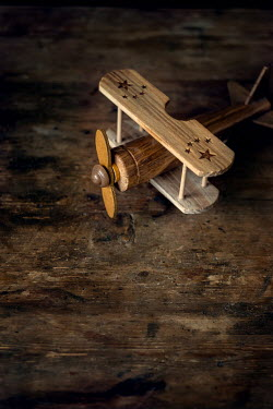 Galya Ivanova WOODEN TOY AEROPLANE FROM ABOVE Miscellaneous Objects