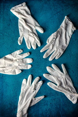 Kelly Sillaste WHITE SURGICAL GLOVES FROM ABOVE Miscellaneous Objects