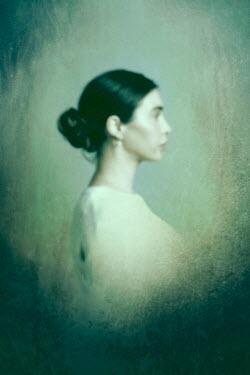 Miguel Sobreira Blurred Profile Portrait of Woman bun Women