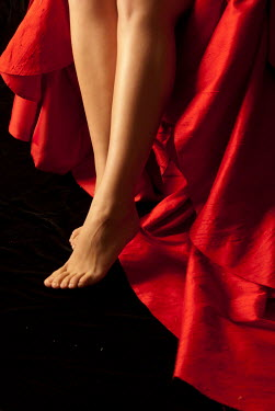 Michael Trevillion CLOSE UP OF BAREFOOTED FEMALE LEGS Women