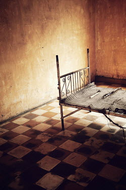 Irene Lamprakou METAL BED IN SHABBY ROOM Interiors/Rooms