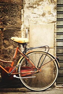 Irene Lamprakou OLD BICYCLE BY STONE WALL Miscellaneous Transport