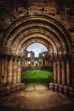 Evelina Kremsdorf Entrance to Fountains Abbey ruins in Yorkshire, England