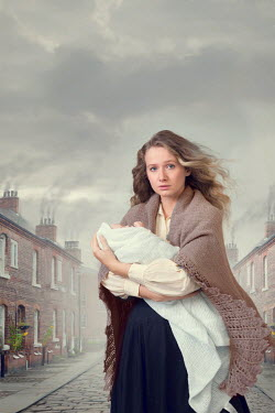 Lee Avison poor victorian woman holding a baby