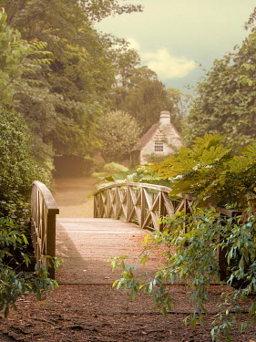 Victoria Davies Wooden bridge to cottage