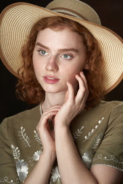 Alexander Vinogradov Young woman in sun hat