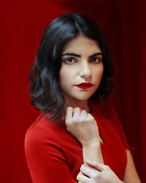 Svitozar Bilorusov Portrait of young woman with red lipstick