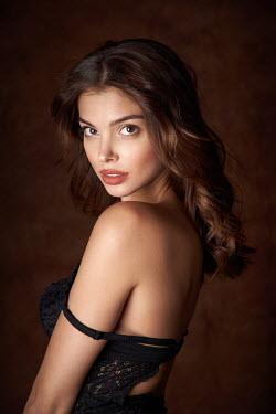 Alexander Vinogradov Young woman in black bra