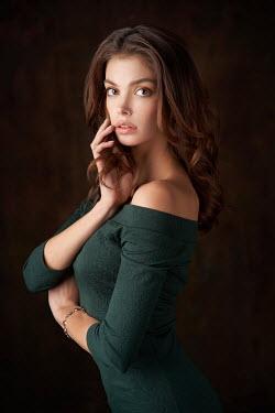 Alexander Vinogradov Young woman in green dress