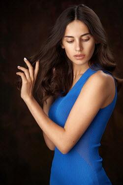 Alexander Vinogradov Young woman in blue dress
