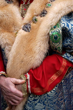 Ute Klaphake CLOSE UP OF HISTORICAL MAN IN JEWELS AND FUR Old People