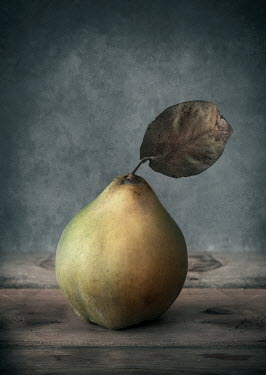 Jaroslaw Blaminsky CLOSE UP OF PEAR WITH LEAF Miscellaneous Objects