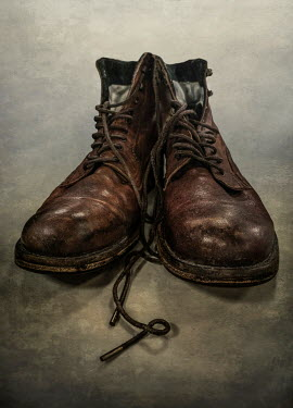 Jaroslaw Blaminsky CLOSE UP OF OLD BROWN BOOTS Miscellaneous Objects