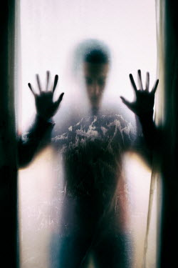 Mohamad Itani MAN IN SHADOW PRESSING HANDS ON WINDOW Men